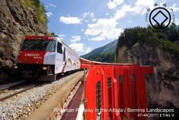 (NZ11-105) UNESCO Italy  World Heritage, Rhaetian Railway In The Albula Bernina Landscape Postal Stationery-Postsache F - UNESCO