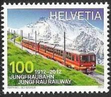 """Schweiz 2012: Michel-Nr. 2233  Jungfrau-Bahn""""** MNH - Treni"""