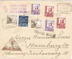 España 1938. Correo Certificado De Cadiz A Hamburgo. Censura. - Marcas De Censura Nacional
