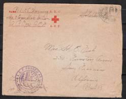 "SA019.-. RED CROSS CORRESPONDENCE,  "" A.R.C. ""  "" A.E.F. ""  CIRCULATED TO CALIFORNIA- USA - Croce Rossa"
