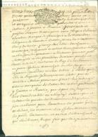 Cachet Généralité De D'Orleans En 1729 Sur Actes Plus Tarif Pour Les Meuniers   - Pho142 - Seals Of Generality