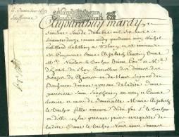 Cachet Généralité De Paris De 1672 Sur Acte 4 Pages Marque Superbe    - Pho143 - Seals Of Generality