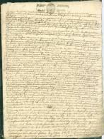 Cachet Généralité De PARIS DATE En 1682 ( Répété De Fois Sur Acte 8 Pages  - Pho144 - Seals Of Generality