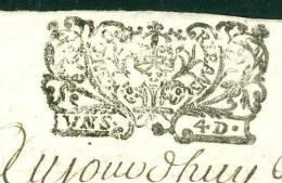 Cachet Généralité D'orléans Daté En 1700 Sur Acte 4 Pages , Frappe Superbe  - Pho148 - Seals Of Generality