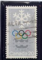 CANADA. 1976, USED # 689,   SNOWFLAKE & OLYMPIC    SYMBOL.           USED - 1952-.... Règne D'Elizabeth II