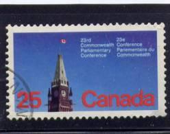 CANADA. 1977, USED # 740,  PEACE TOWER OTTAWA CANADA  USED - 1952-.... Règne D'Elizabeth II