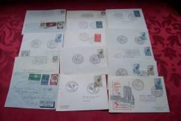 15  Lettres Divers De France  Timbres Europa 12 Lettres + 3 Flammes Strasbourg - France