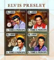 st6405a-g S.Tome Principe 2006 Elvis Presley motorbikes gold s/s Michel: 2924-2927 Scott: 1646