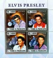 st6405a-s S.Tome Principe 2006 Elvis Presley motorbikes silver s/s Michel: 2928-2931 Scott: 1636