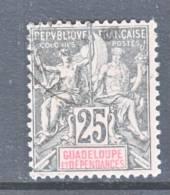 Guadeloupe  37  (o) - Guadeloupe (1884-1947)