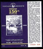 Special Dunedin 150th Celebration Wine Label 1998. - Etiquettes