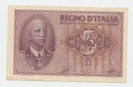 ITALY 5 Lire 1940 XF++ P 28 - [ 1] …-1946 : Kingdom