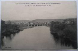 54 : Les Environs De Pont-Saint-Vincent Et Neuves-Maisons - Le Madon Et Le Pont De Chemin De Fer - Francia