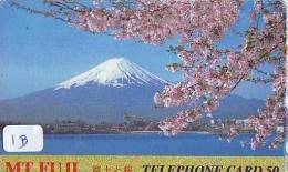 Télécarte Japon * Volcan MONT FUJI (1b) Vulcan * Japan Phonecard * Vulkan Volcano * Telefonkarte * Mount Fuji - Montagnes
