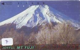 Télécarte Japon * Volcan MONT FUJI (7) Vulcan * Japan Phonecard * Vulkan Volcano * Telefonkarte * Mount Fuji - Montagnes