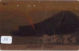 Télécarte Japon * Volcan MONT FUJI (10) Vulcan * Japan Phonecard * Vulkan Volcano * Telefonkarte * Mount Fuji - Montagnes