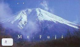 Télécarte Japon * Volcan MONT FUJI (11) Vulcan * Japan Phonecard * Vulkan Volcano * Telefonkarte * Mount Fuji - Montagnes