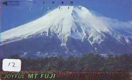 Télécarte Japon * Volcan MONT FUJI (12) Vulcan * Japan Phonecard * Vulkan Volcano * Telefonkarte * Mount Fuji - Montagnes