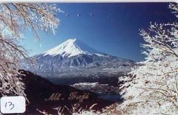 Télécarte Japon * Volcan MONT FUJI (13) Vulcan * Japan Phonecard * Vulkan Volcano * Telefonkarte * Mount Fuji - Montagnes