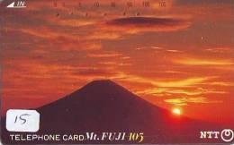 Télécarte Japon * Volcan MONT FUJI (15) Vulcan * Japan Phonecard * Vulkan Volcano * Telefonkarte * Mount Fuji - Bergen