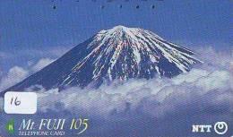 Télécarte Japon * Volcan MONT FUJI (16) Vulcan * Japan Phonecard * Vulkan Volcano * Telefonkarte * Mount Fuji - Montagnes