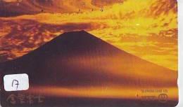 Télécarte Japon * Volcan MONT FUJI (17) Vulcan * Japan Phonecard * Vulkan Volcano * Telefonkarte * Mount Fuji - Montagnes