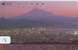 Télécarte Japon * Volcan MONT FUJI (18) Vulcan * Japan Phonecard * Vulkan Volcano * Telefonkarte * Mount Fuji - Montagnes