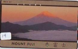 Télécarte Japon * Volcan MONT FUJI (19) Vulcan * Japan Phonecard * Vulkan Volcano * Telefonkarte * Mount Fuji - Montagnes