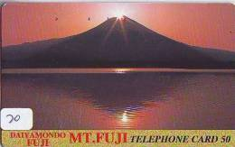 Télécarte Japon * Volcan MONT FUJI (20) Vulcan * Japan Phonecard * Vulkan Volcano * Telefonkarte * Mount Fuji - Bergen