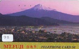 Télécarte Japon * Volcan MONT FUJI (22) Vulcan * Japan Phonecard * Vulkan Volcano * Telefonkarte * Mount Fuji - Montagnes