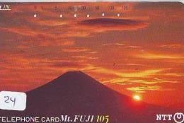 Télécarte Japon * Volcan MONT FUJI (24) Vulcan * Japan Phonecard * Vulkan Volcano * Telefonkarte * Mount Fuji - Montagnes