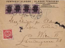 Courrier Envoyé De Budapest à Wien. - Hongrie