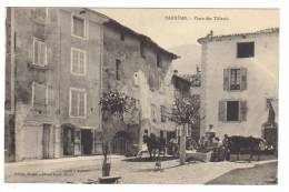 Cpa Du 04- BARRÊME- Place Des Tilleuls (chevaux) (attelage)(fontaine) - Sonstige Gemeinden