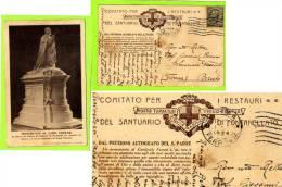 FONTANELLATO - CARTOLINA PER IL MONUMENTO AL CARDINALE FERRARI - VIAGGIATA  1924 - Parma