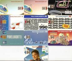 *FINLANDIA* - Lotto Di 10 Schede Usate Differenti - Finlandia
