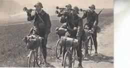 MILITARIA / FIN DE MANOEUVRE - CYCLISTE ET TROMPETTE - Guerre 1914-18