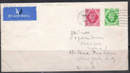 SA015-GREAT BRITAIN 1939  .-. CIRCULATED COVER CHELMSFORD  TO  NEW YORK - USA , ARRIVAL CACHET ON BACK - Storia Postale