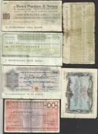 ITALY 100 LIRE X 5 & 105 PROVISIONAL BANCOS INC. NOVARA ETC. MOTIFS FRONT& BACK DATED 1976-1977 P.? READ DESCRIPTION !! - [ 4] Voorlopige Uitgaven