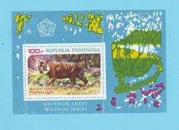 INDONESIE TIGRE 1977 / MNH** / BV 103 - Big Cats (cats Of Prey)