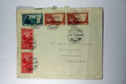 Italy: Cover 1932, Bolzano->Utrecht Holland, Sa 327,2x328,2 X 333 (R), Mixed Stamps - 1900-44 Vittorio Emanuele III