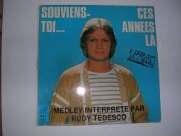"""MAXI -  CLAUDE FRANCOIS Par RUDY TEDESCO  -  BUNNY 822  """" SOUVIENS-TOI CES ANNEES LA """"  + 1 - 45 T - Maxi-Single"""