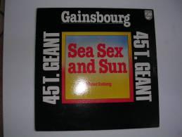 """MAXI -  SERGE GAINSBOURG  -  PHILIPS 9199777  """" SEA SEX AND SUN """"  + 1 - 45 T - Maxi-Single"""