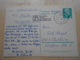 DDR, P 73 Antwortteil Gelaufen (a30) - [6] République Démocratique