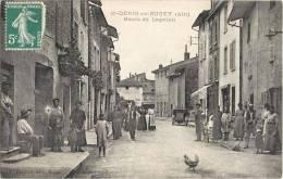 SAINT-DENIS-EN-BUGEY LA ROUTE DE LAGNIEU ANIMEE 01 AIN - Francia