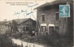 SALLE PAR SAINT-MARTIN-DU-MONT ATELIER DE CHARRONNAGE CHARRON METIER 01 AIN - Sin Clasificación