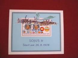 DDR - 1978 - Foglietto Spazio - Soyuz - Nuovo - Mi Block 53 - Space