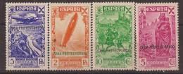 MABE7-L4070TTOT.Maroc Marocco.lote  Historia Del Correo. BENEFICENCIA.1938   (Ed  7 Y 8**).sin Charnela.SUPER LUJO - Transporte