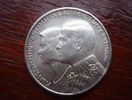 GREECE 1964  THIRTY DRACHMA COMMEMORATIVE COIN ROYAL WEDDING .835 Silver - 12 Grams. - Grecia