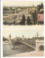75 - PARIS 8e  - Lot De 2 Cartes Couleur  - Pont Alexandre III, Vers Les Invalides  Animation  Bateau-mouche - Metro, Stations