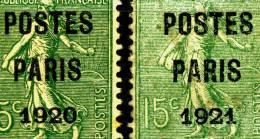 Préobilitérés N° 25 De 1920 + N°28 De 1921 (je Ne Vois Pas De Différence) Vue Detail-scans, 6 Scans - Préoblitérés